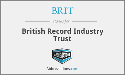 BRIT - British Record Industry Trust