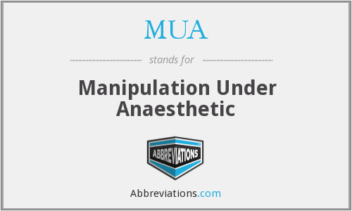 MUA - Manipulation Under Anaesthetic