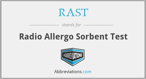 RAST - Radio Allergo Sorbent Test