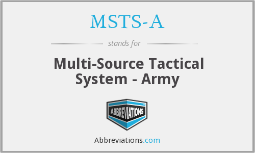 MSTS-A - Multi-Source Tactical System - Army