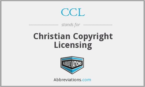 CCL - Christian Copyright Licensing