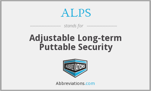 ALPS - Adjustable Long-term Puttable Security