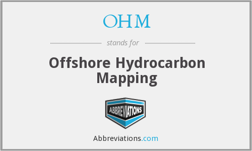 OHM - Offshore Hydrocarbon Mapping