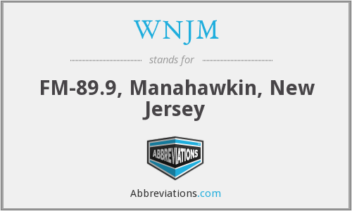 What does WNJM stand for?