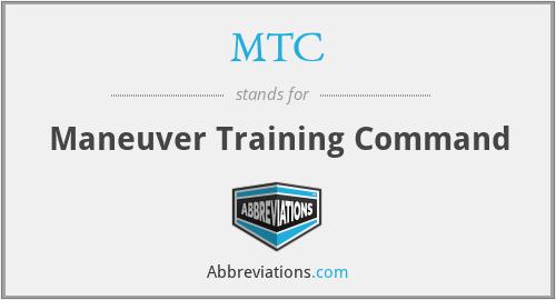 MTC - Maneuver Training Command