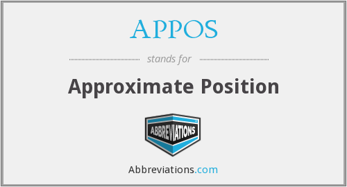 APPOS - Approximate Position