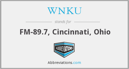 What does WNKU stand for?