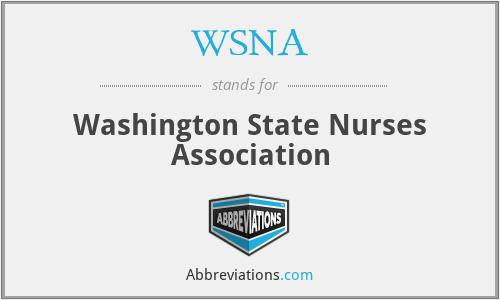 WSNA - Washington State Nurses Association