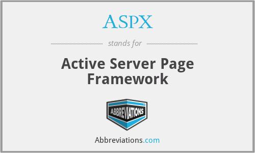 ASPX - Active Server Page Framework