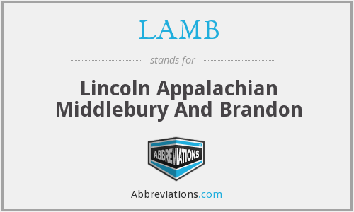 LAMB - Lincoln Appalachian Middlebury And Brandon