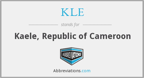 KLE - Kaele, Republic of Cameroon