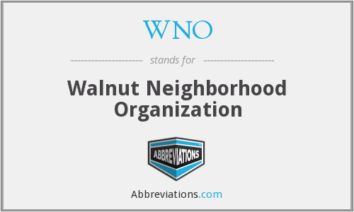 WNO - Walnut Neighborhood Organization