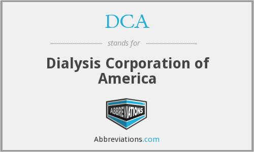 DCA - Dialysis Corporation of America