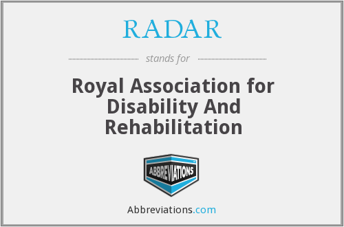 RADAR - Royal Association for Disability And Rehabilitation