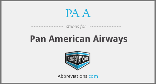PAA - Pan American Airways