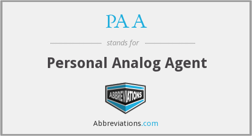 PAA - Personal Analog Agent