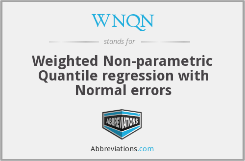 WNQN - Weighted Non-parametric Quantile regression with Normal errors