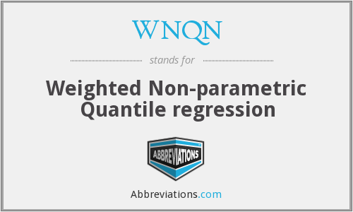 WNQN - Weighted Non-parametric Quantile regression