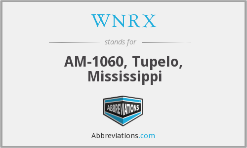 WNRX - AM-1060, Tupelo, Mississippi