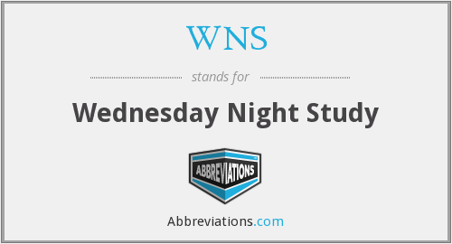 WNS - Wednesday Night Study