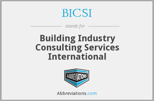 BICSI - Building Industry Consulting Services International