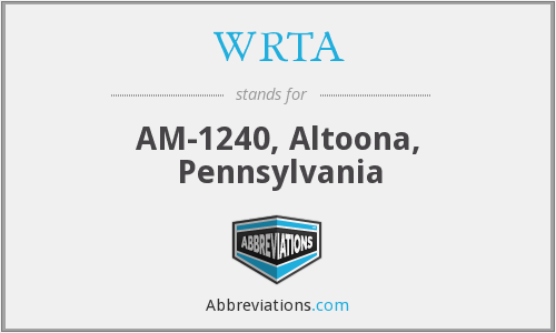 WRTA - AM-1240, Altoona, Pennsylvania