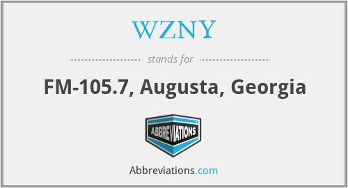 WZNY - FM-105.7, Augusta, Georgia