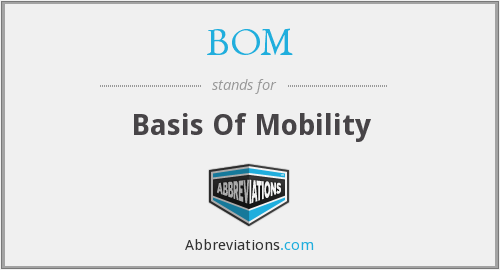 BOM - Basis Of Mobility