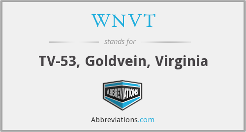 WNVT - TV-53, Goldvein, Virginia