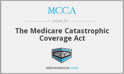 MCCA - The Medicare Catastrophic Coverage Act