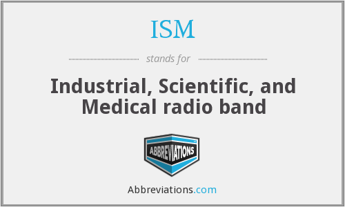 ISM - Industrial, Scientific, and Medical radio band