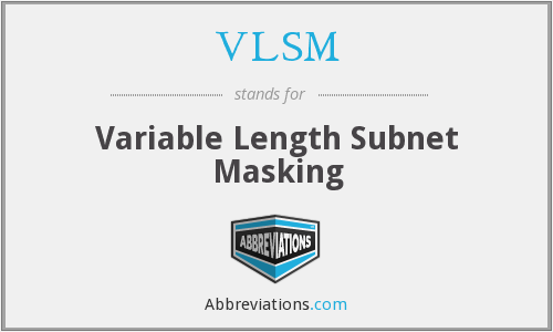 VLSM - Variable Length Subnet Masking
