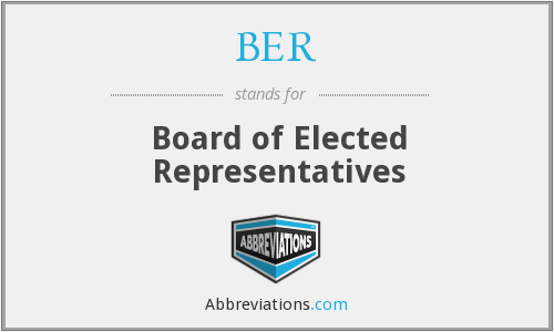 BER - Board of Elected Representatives