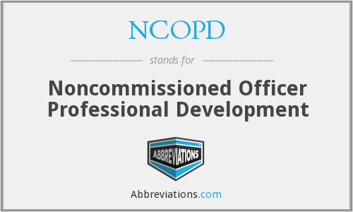 What does NCOPD stand for?