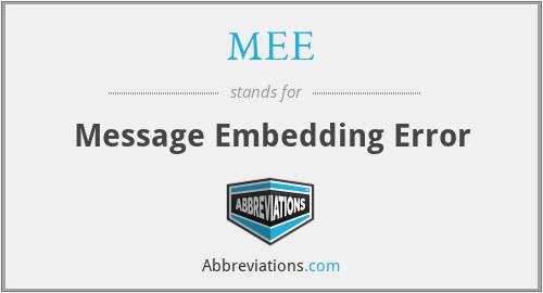 MEE - Message Embedding Error