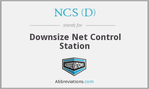 What does NCS (D) stand for?
