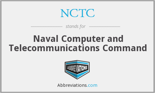 NCTC - Naval Computer and Telecommunications Command