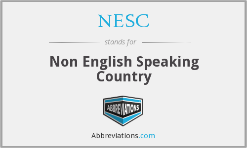 What does NESC stand for?
