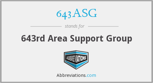 643ASG - 643rd Area Support Group