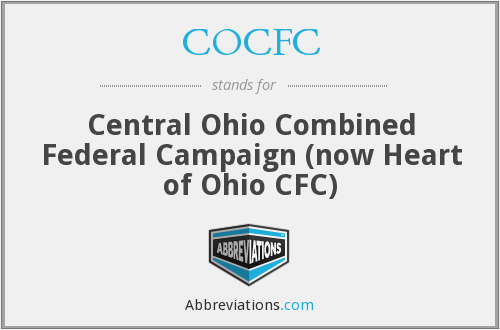 COCFC - Central Ohio Combined Federal Campaign (now Heart of Ohio CFC)