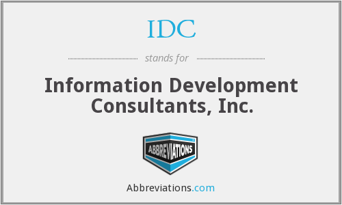 IDC - Information Development Consultants, Inc.