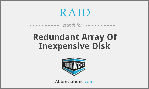 RAID - Redundant Array Of Inexpensive Disk