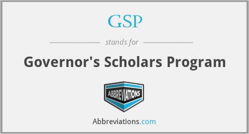 GSP - Governor's Scholars Program