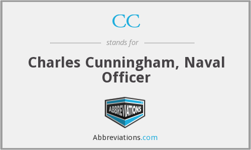 CC - Charles Cunningham, Naval Officer