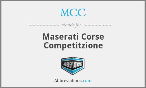 MCC - Maserati Corse Competitzione
