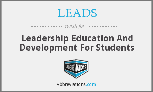 LEADS - Leadership Education And Development For Students