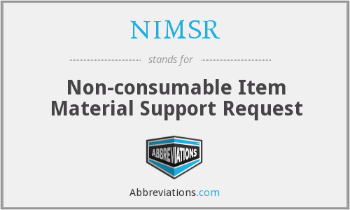 What does NIMSR stand for?