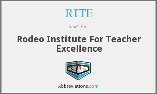 RITE - Rodeo Institute For Teacher Excellence