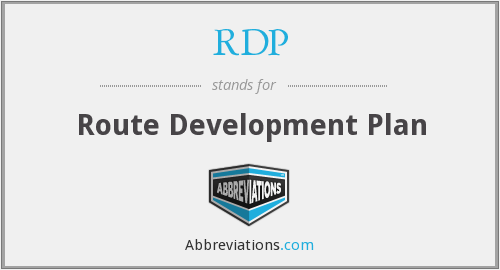 RDP - Route Development Plan