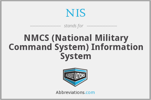 NIS - National Military Command System Information System